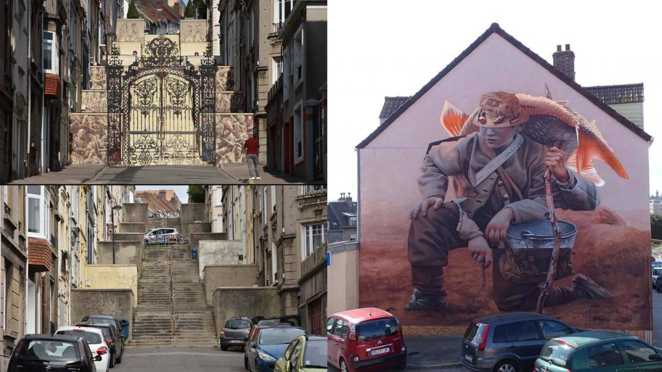Vous avez jusqu'au samedi 6 février 2021, 20h00, pour voter pour votre fresque préférée, dont celles de Borondo et Telmo Miel, réalisées à Boulogne durant l'été 2020.