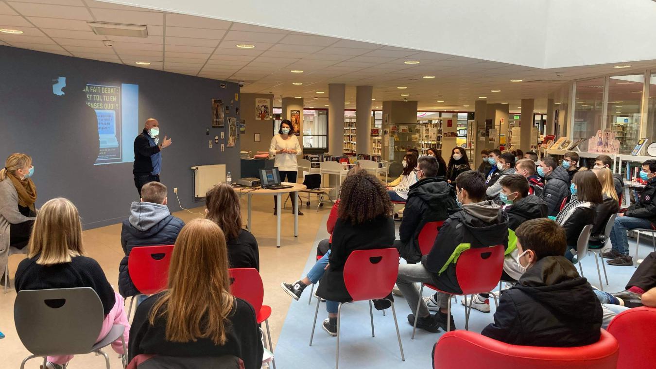 Mardi 22 janvier, L'Avenir de l'Artois a répondu à l'invitation du CDI du lycée Carnot à Bruay (Photo lycée Carnot)