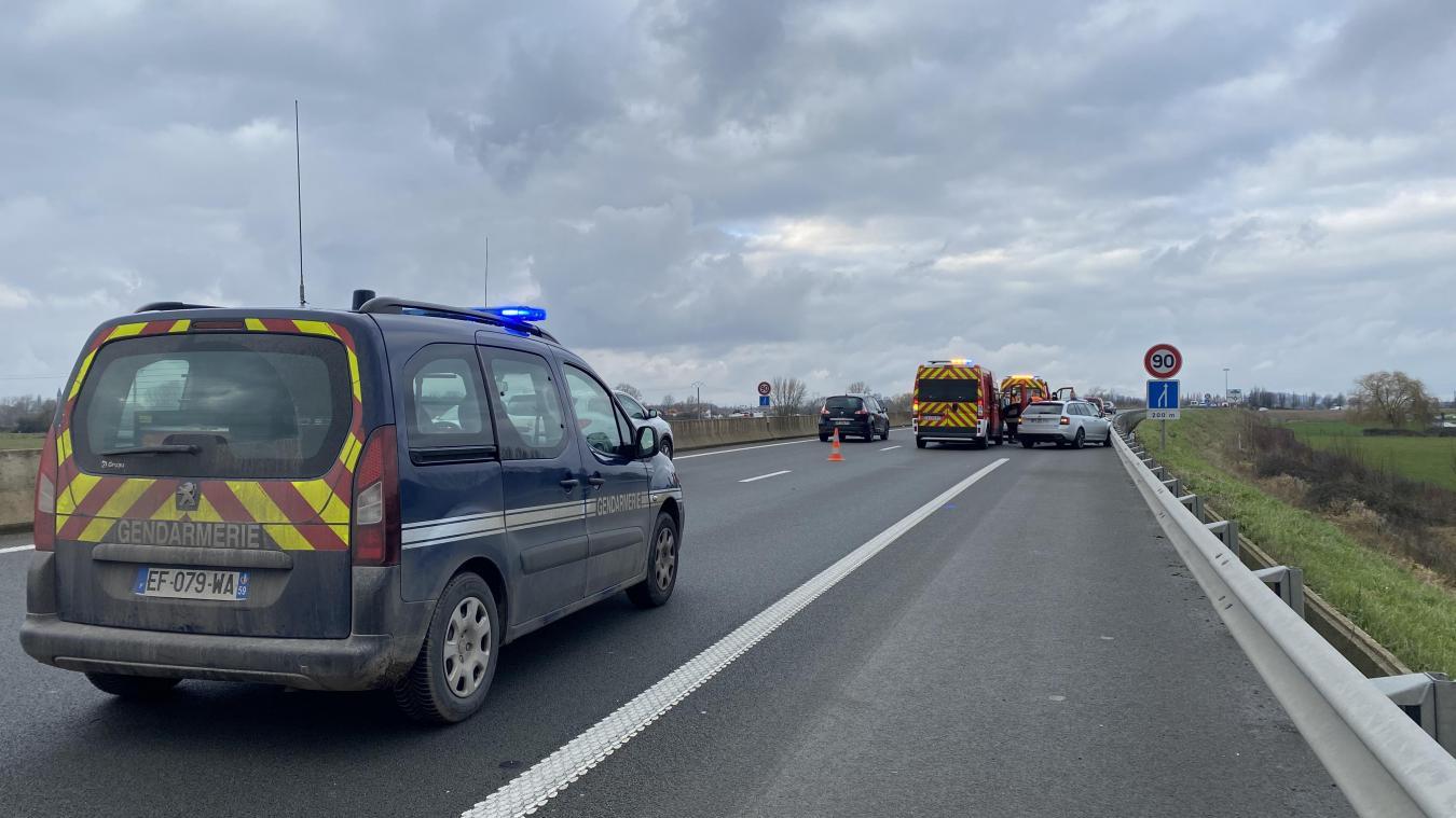 Deux véhicules se percutent sur le contournement à hauteur de Borre