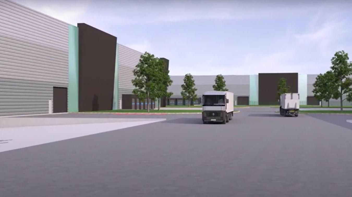 Le projet «Channel Logistics» proposera 16 cellules de 6 000 mètres carrés. (Photo channel-logistics.com)