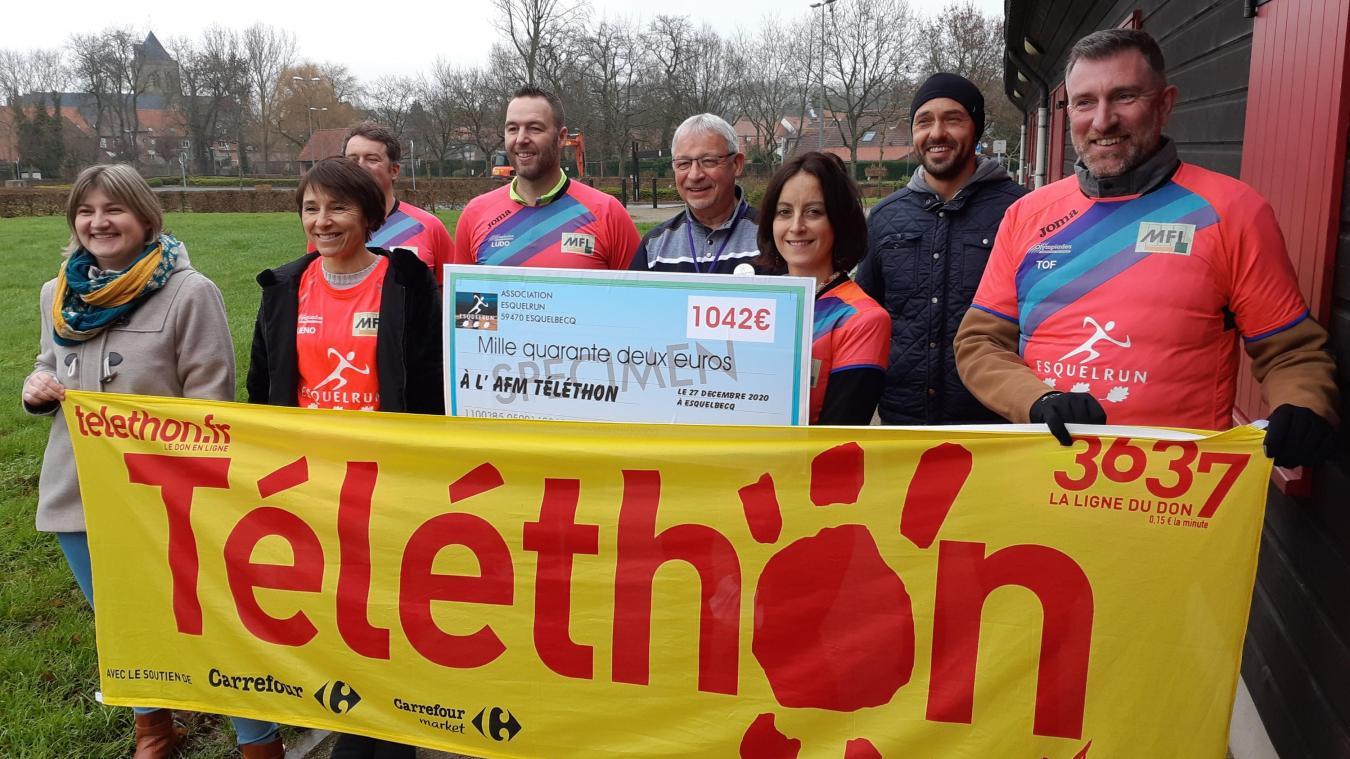 L'association Esquelrun a récolté 1 042 euros sur les 6 329 récoltés par le comité Téléthon.