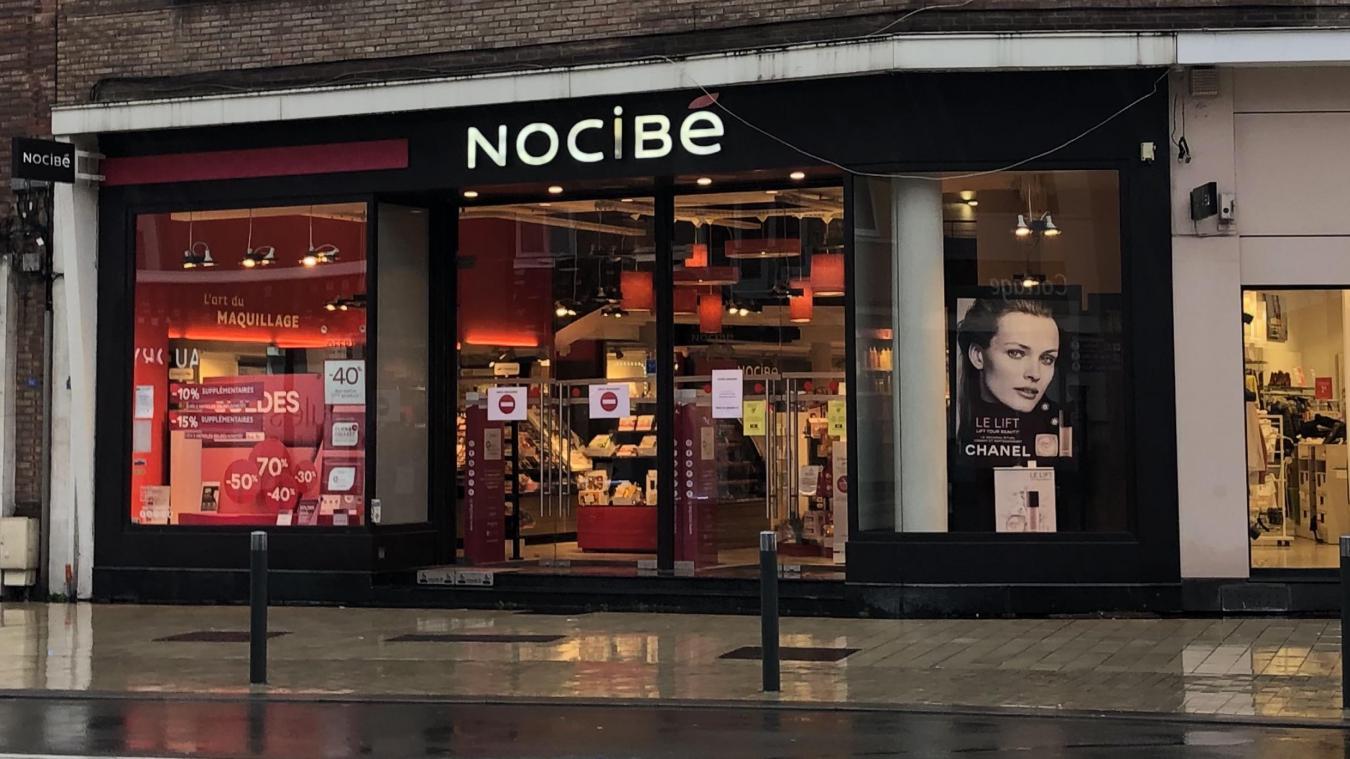 La boutique Nocibé, boulevard Alexandre-III, à Dunkerque, a fait partie des magasins visités par les voleurs. Ils en sont ressortis avec 650 euros de parfum.