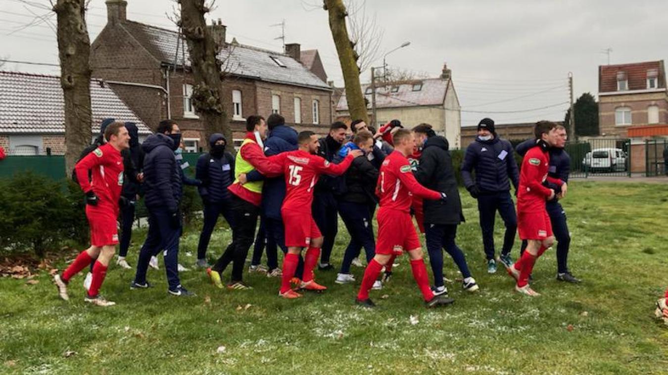 Coupe de France: explosion de joie à Aire-sur-la-Lys