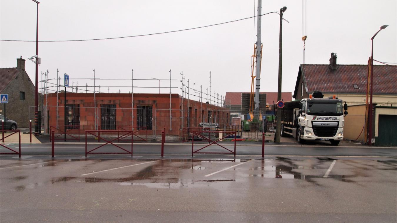 L'espace santé-logements est en cours de construction.