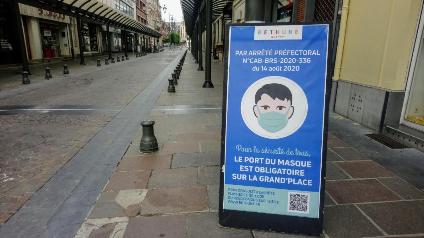 Béthune : le port du masque obligatoire prolongé en ville