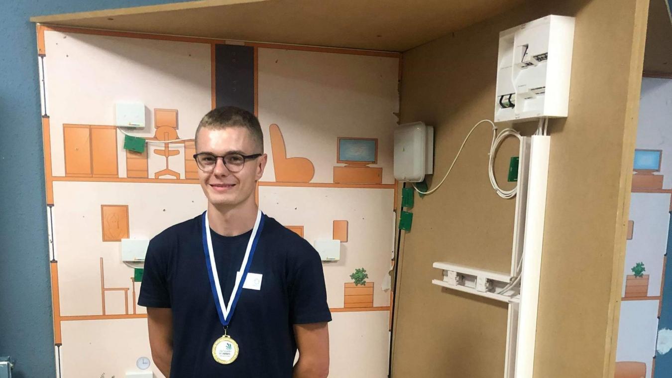 Tom Anon participe à la 46e édition des Olympiades des métiers.