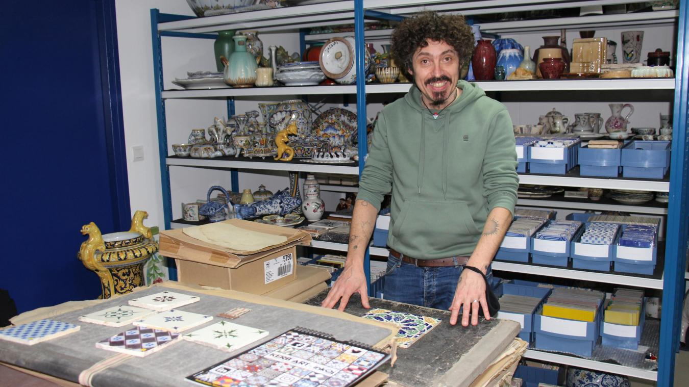 Le graffeur originaire de Bretagne a passé deux jours à Desvres.