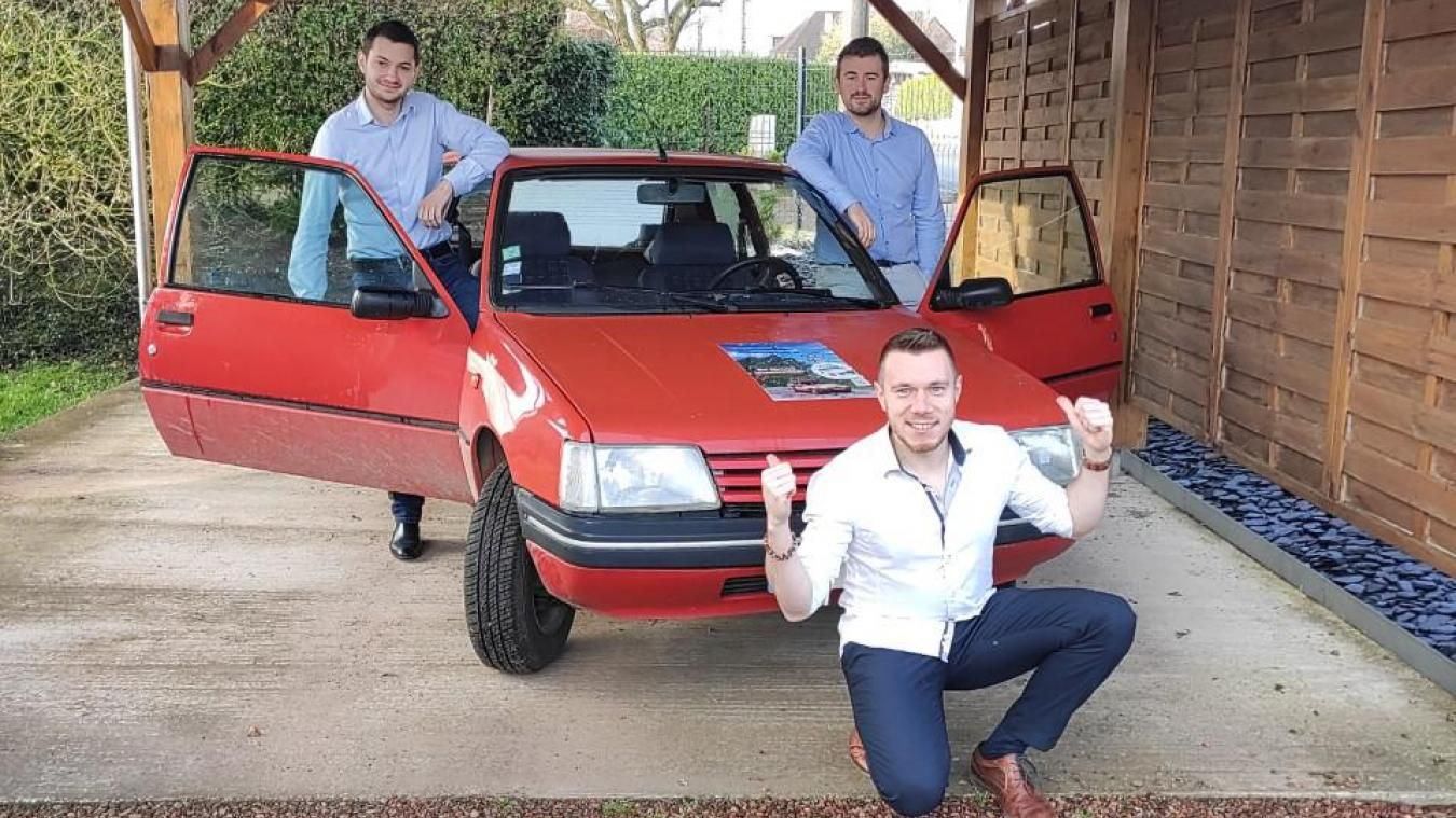 Les trois amis habitent Wittes, Blessy et Le Doulieu. Ils préparent leur raid solidaire en Europe de l'Est.