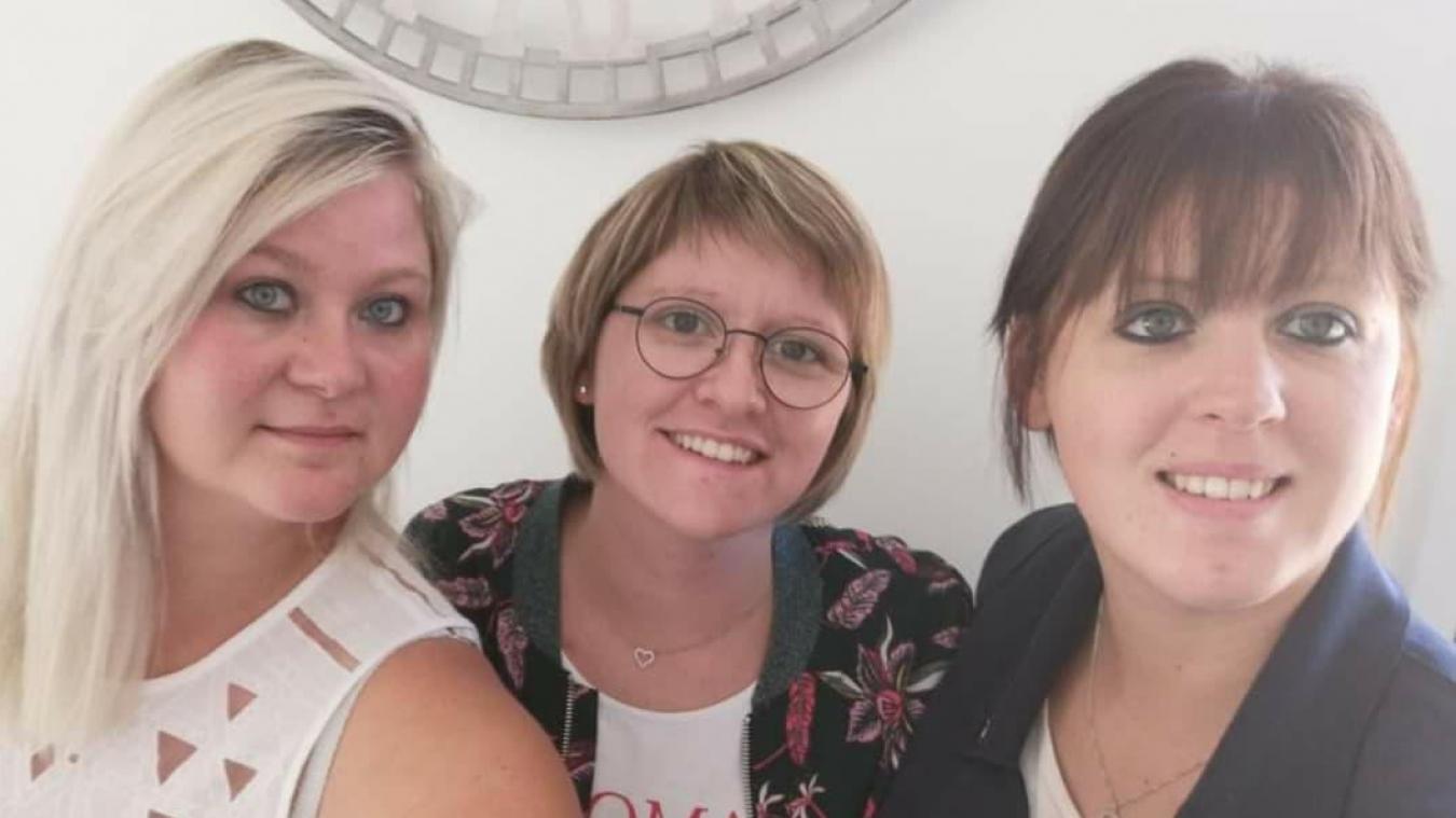Justine, Flore et Marie impatientes de pouvoir exercer dans leurs nouveaux locaux.