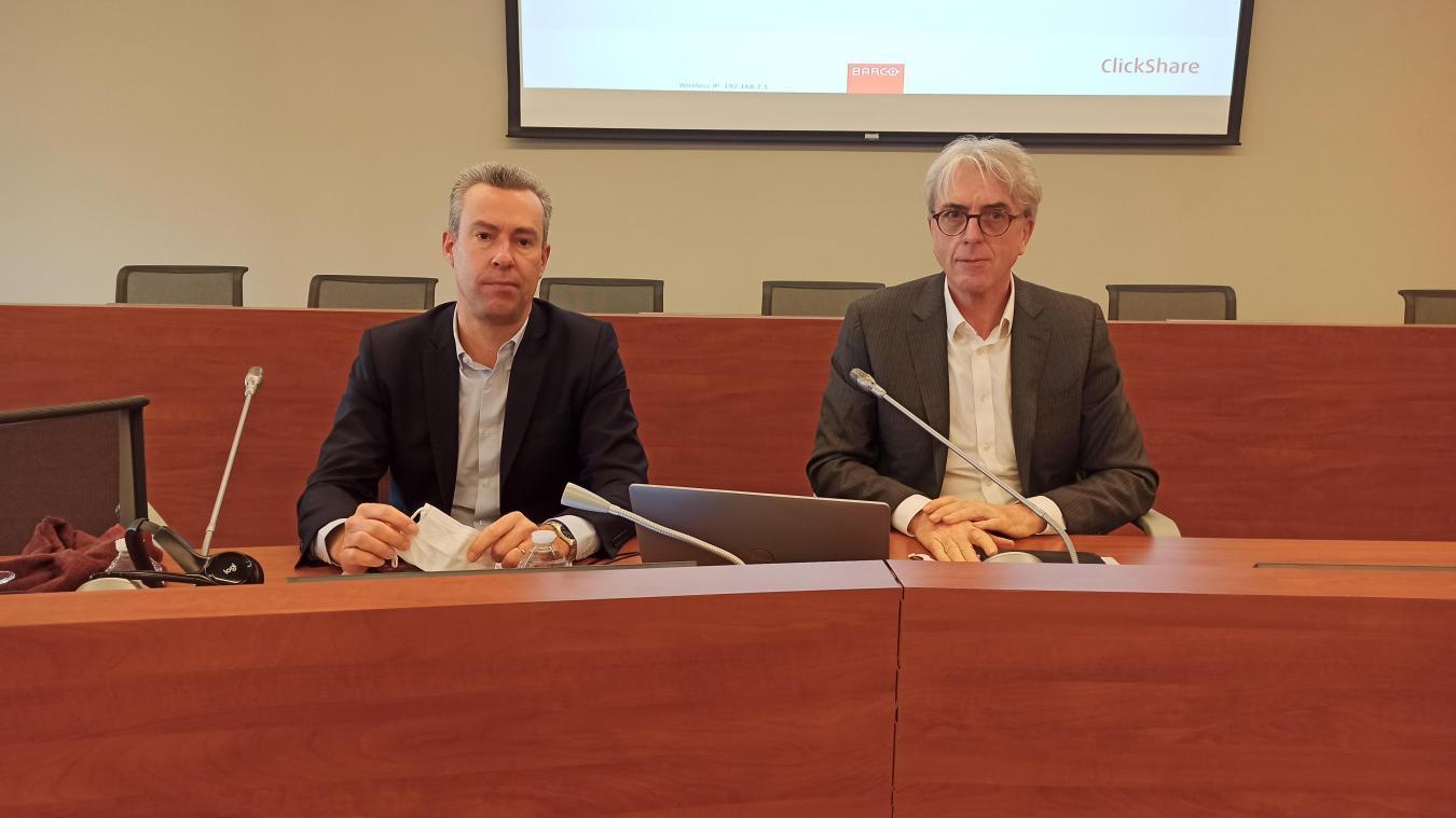 Matthieu Hubert, à gauche, et Yann Vincent, à droite, le 12 février à Lens.
