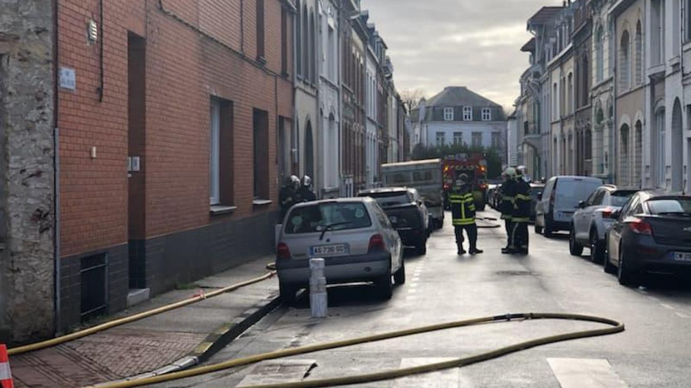 Les sapeurs-pompiers ont été appelés rue Philippe-Schodduyn, à Dunkerque.