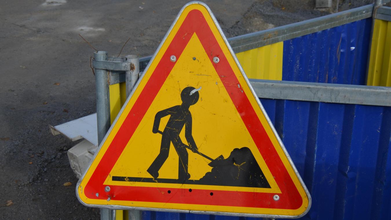 Des travaux sont entrepris dans la ville de Grande-Synthe pour aménager les routes.