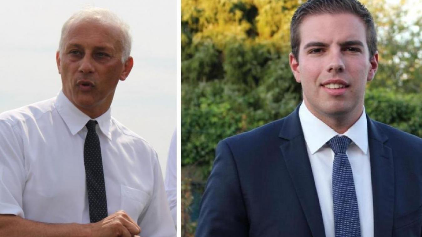 Bernard Cailliau (à gauche) avait déposé un recours pour contester les résultats des élections municipales de 2020, l'opposant à Ludovic Pajot (à droite).