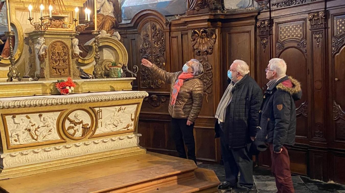 Le sénateur Jean-Pierre Decool a voulu encourager l'association en visitant le joyau du village.