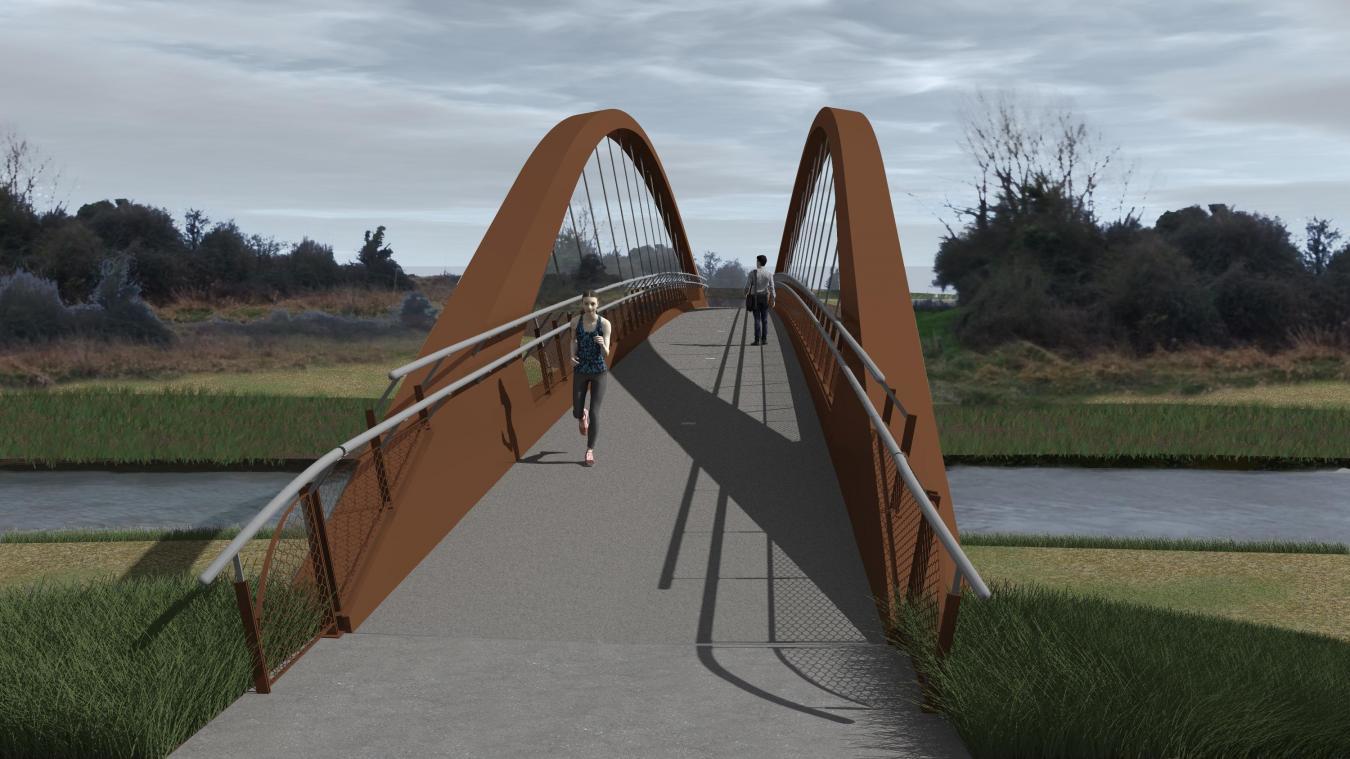 Un ouvrage qui s'intègre à l'environnement et notamment au pont reconstruit après la guerre à quelques centaines de mètres de l'ouvrage original.