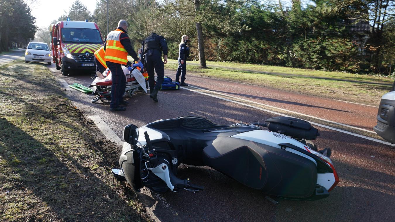 L'accident s'est déroulé sur l'avenue François-Godin, avant le giratoire du camping Stoneham.