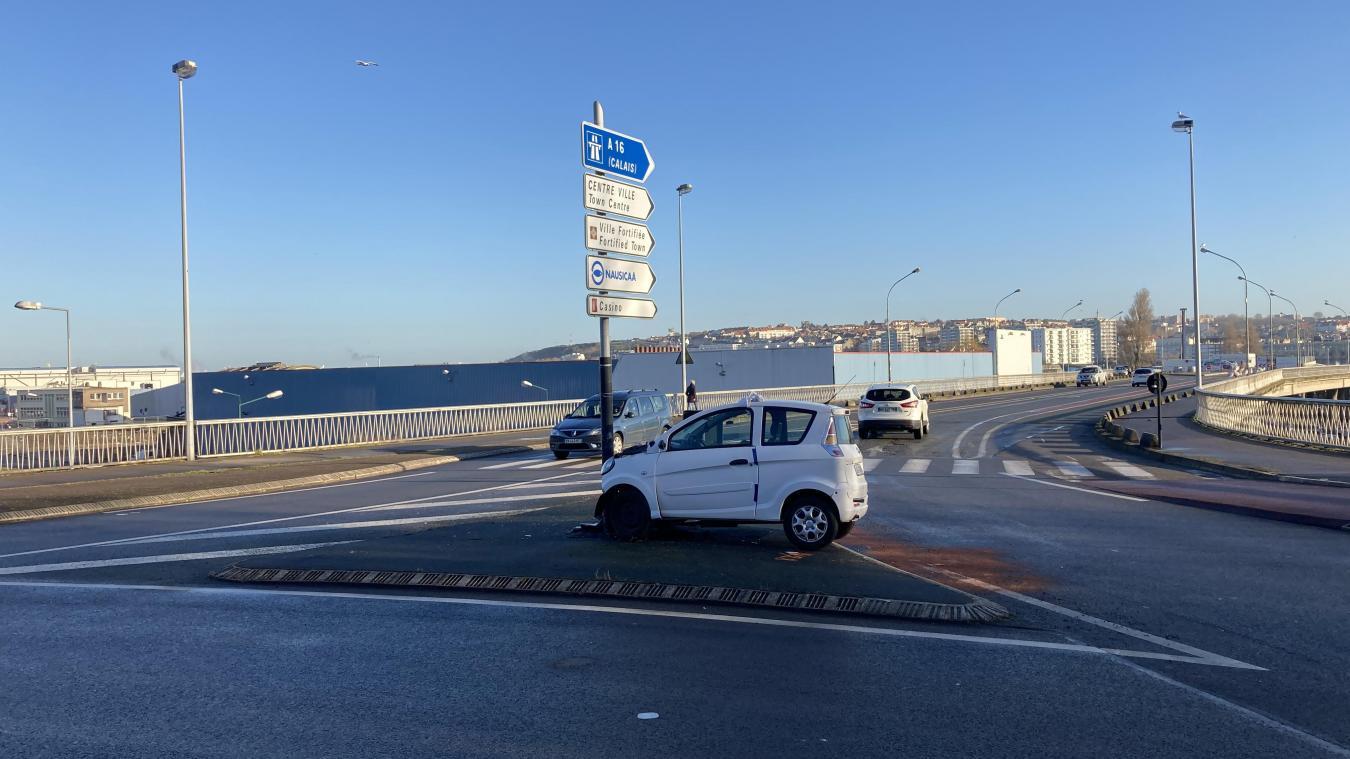 L'accident s'est produit à l'ange entre le boulevard Montesquieu et le boulevard Jean Jaurès.