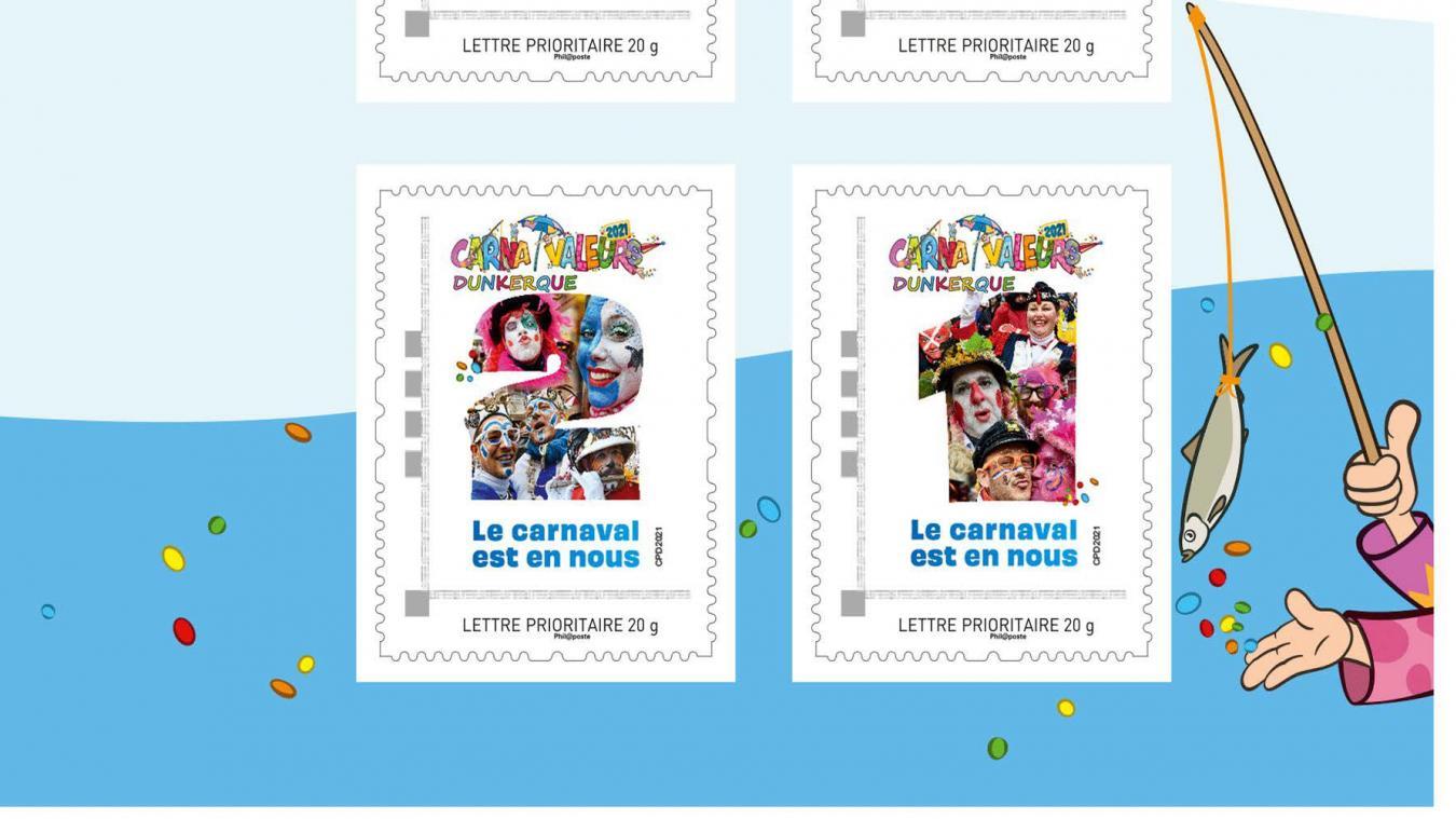 Un collector et quatre timbres personnalisés sont mis en vente pour perpétuer l'esprit carnaval.