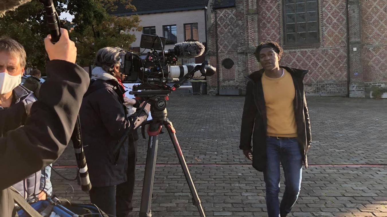 Kamini est venu à Esquelbecq, avec son équipe, en octobre dernier, pour y tourner son émission Les Gens des Hauts.