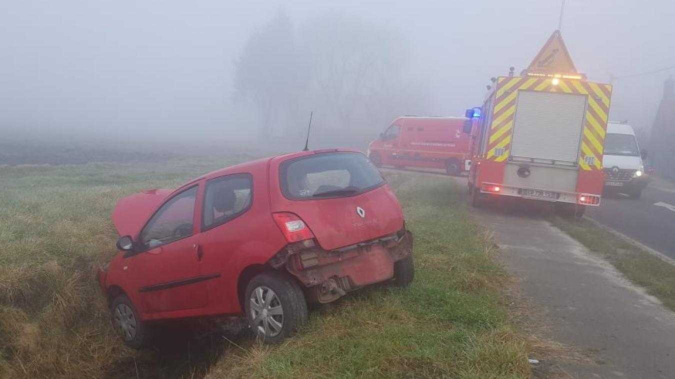 Les conditions météorologiques étaient compliquées ce lundi matin avec un brouillard épais.