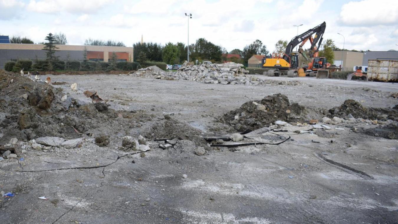 En octobre 2020, le site d'Aldi à Hondschoote ressemblait à ça...