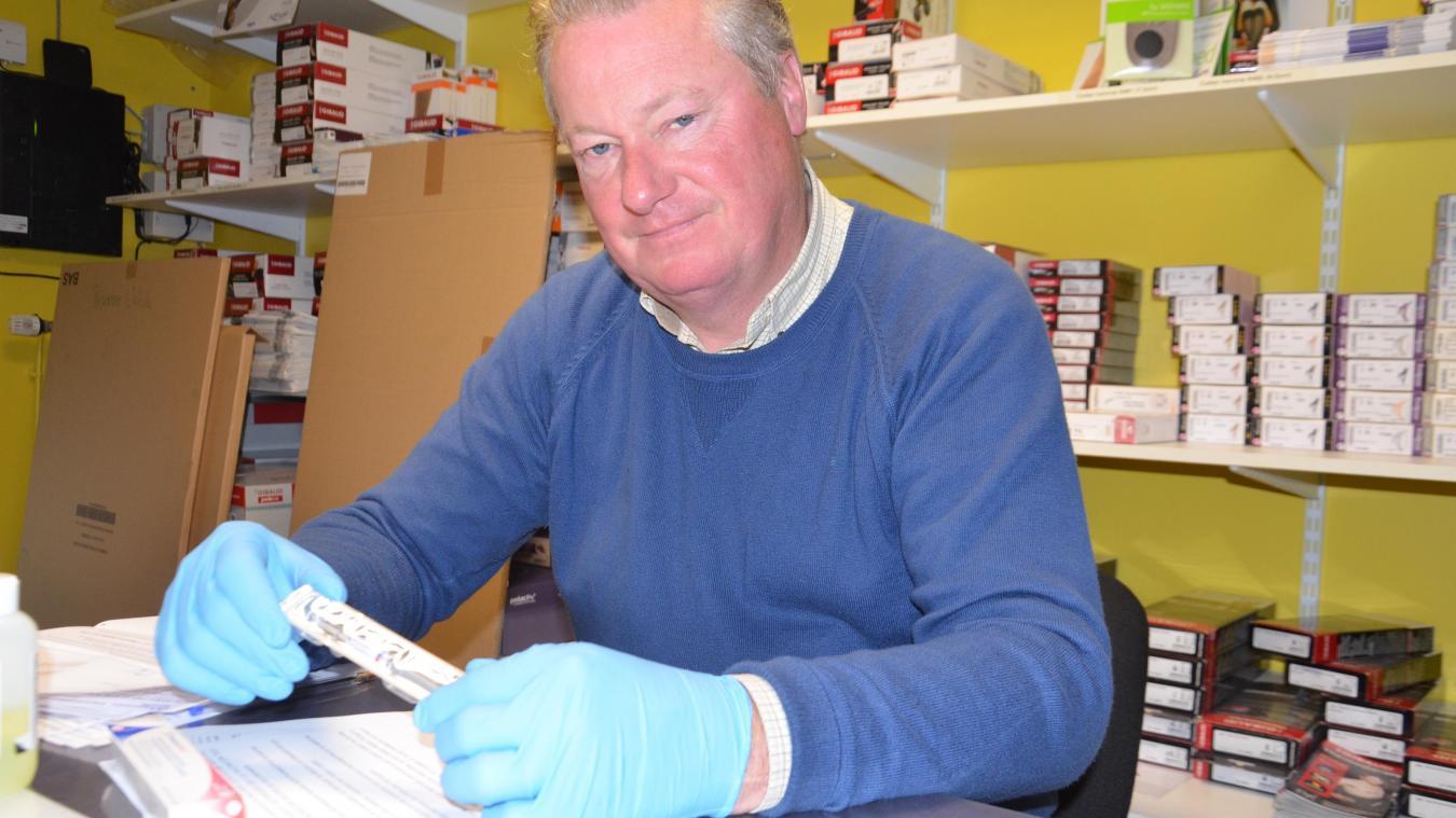 Jean-Marc Lebecque, pharmacien à Marck et président de l'USPO 62.