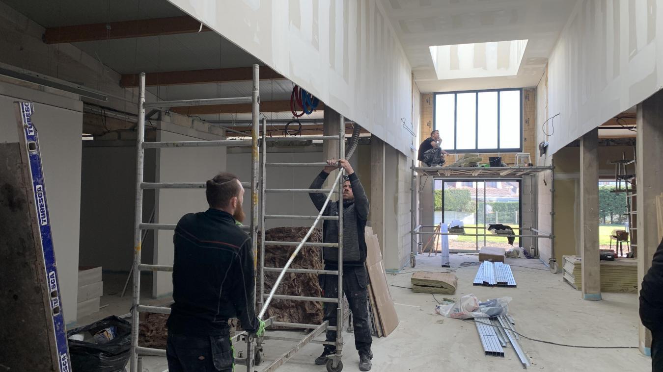 Le chantier de la maison de santé avance bon train, il sera achevé ce mois-ci.