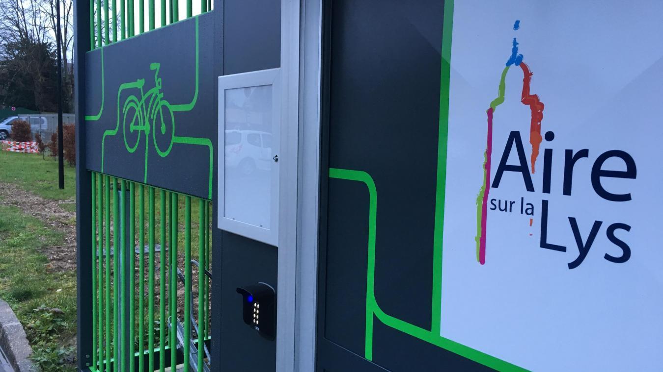 Un nouveau service à Aire-sur-la-Lys : l'abri vélo