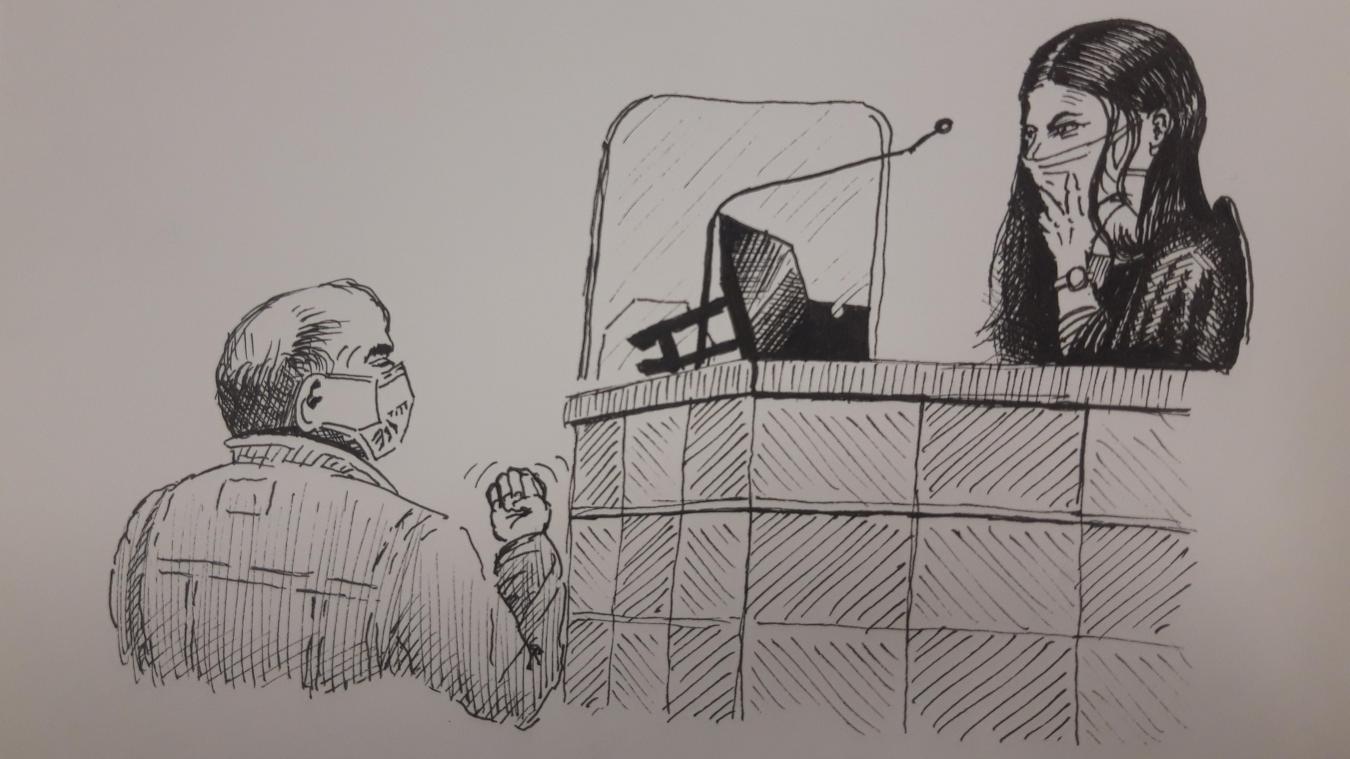 Au deuxième jour du procès de ses agresseurs, Nénesse, aujourd'hui âgé de 71 ans, raconte à l'avocate générale cette soirée du 7 juin 2017.