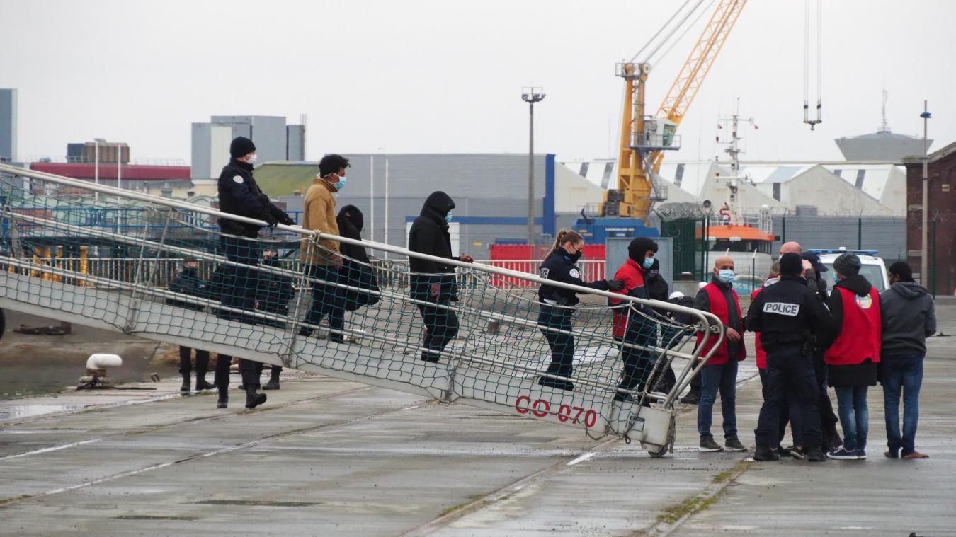 Les réfugiés ont été pris en charge au quai Paul Devot.