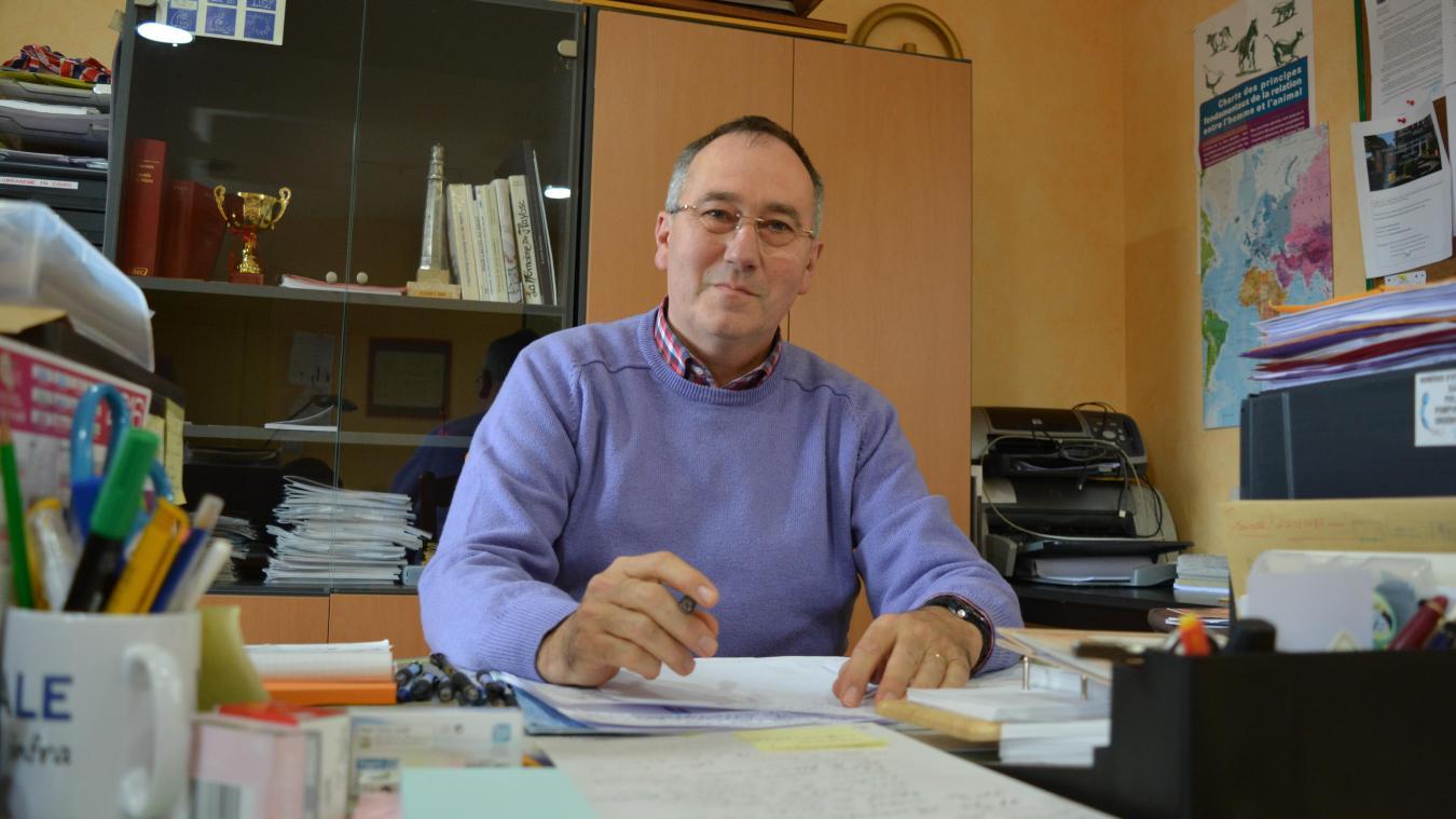 Hubert Degrève, maire de Tubersent et président des maires ruraux du Pas-de-Calais.