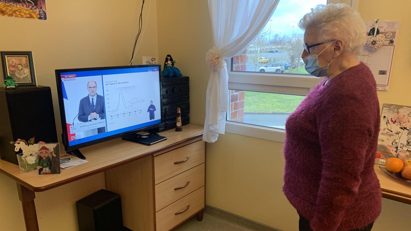 Jeanine Duvette, 89 ans, a écouté Jean Castex dans son Ehpad de Calais : «Les jeux sont faits»