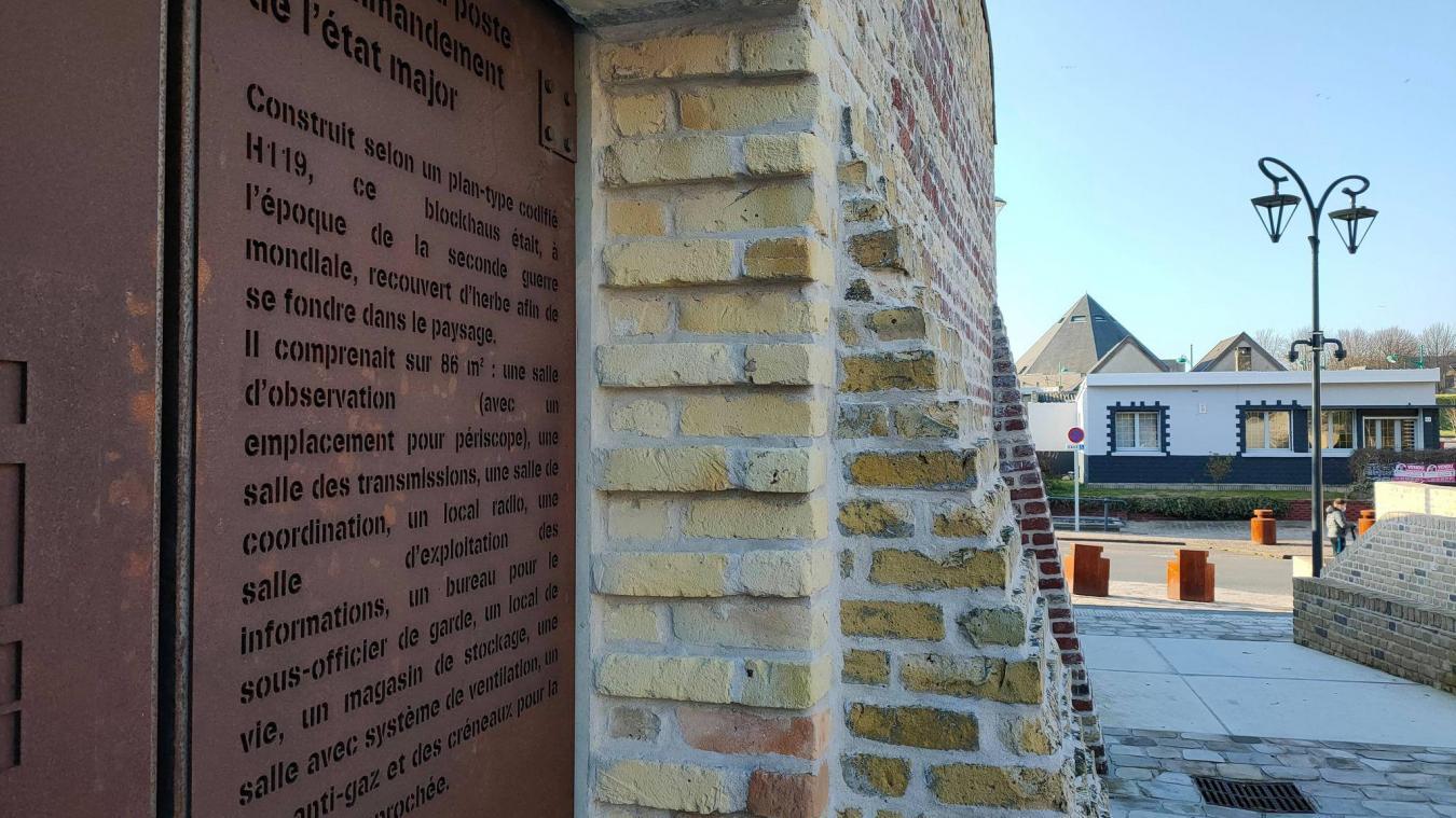 Un parvis a été créé, amenant de la rue de Calais vers la rue de la Liberté. La porte du blockhaus a été pensée de façon à pouvoir y lire l'histoire du site.