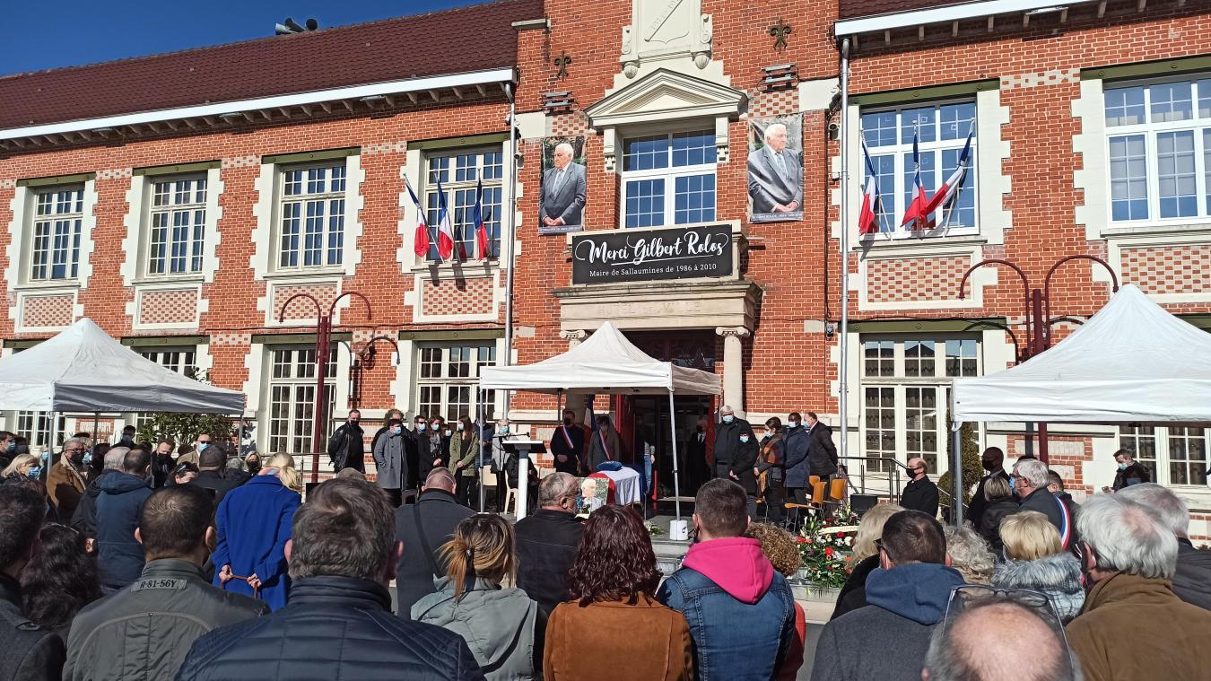 Sallaumines : la Ville rend un dernier hommage à Gilbert Rolos, son ancien maire