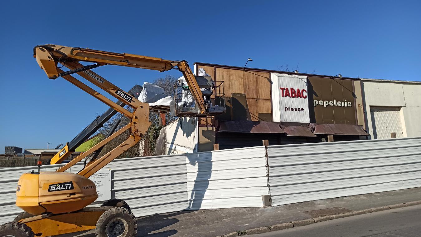 Liévin : les anciens locaux du tabac-presse, situés rue Germain-Delebecque, vont disparaître