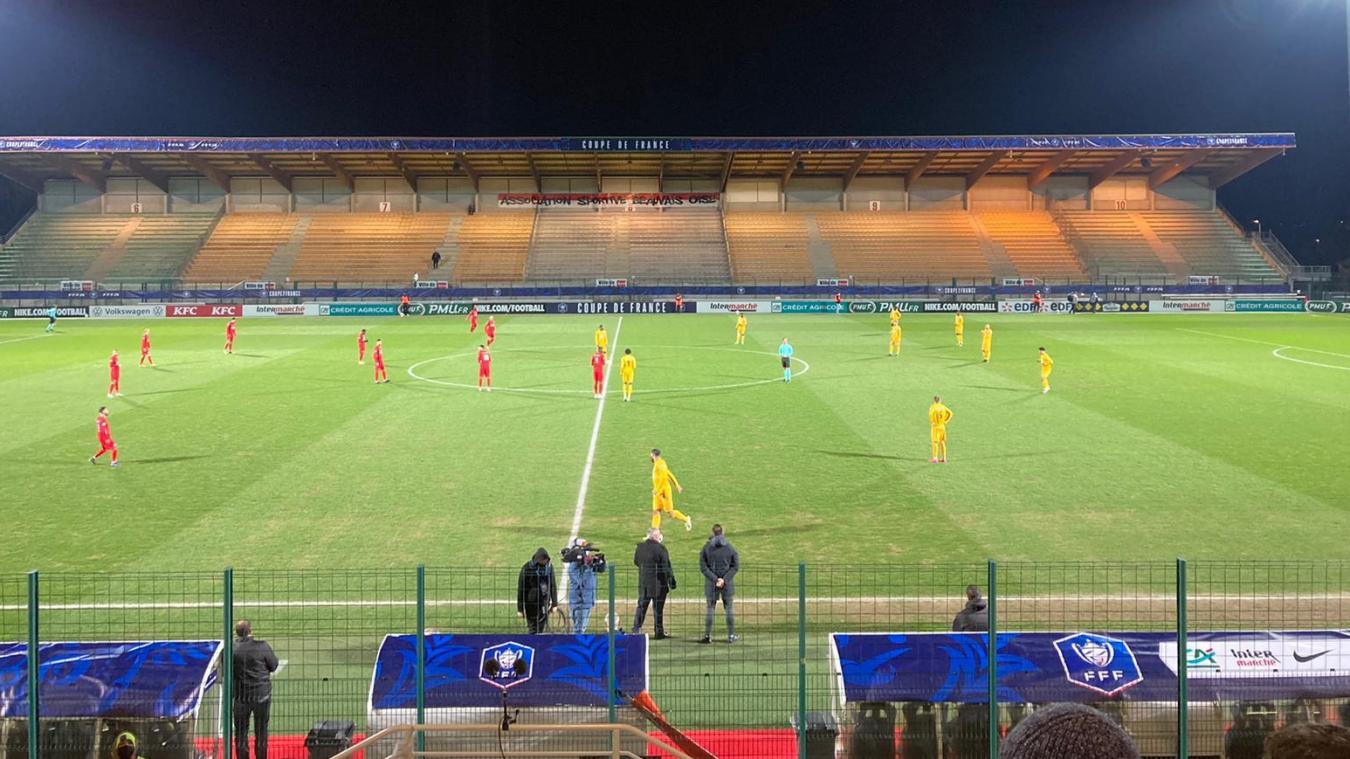 Les Boulonnais (en jaune) ont vaincu Beauvais (N2) 2 à 0.