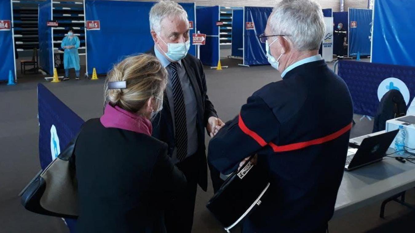 Ce samedi, Jean-Pierre Pont était présent au centre de vaccination de Boulogne en tant que médecin.