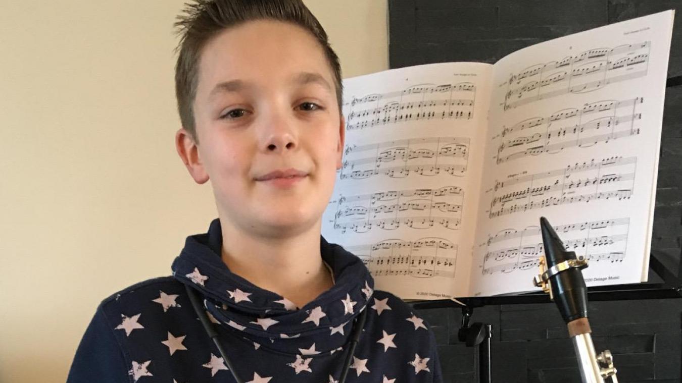 Théo Fournel a été sélectionné pour ses talents de saxophoniste.