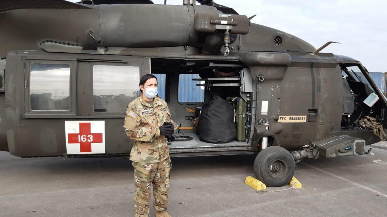 Les hélicoptères de l'armée américaine ont été présentés.