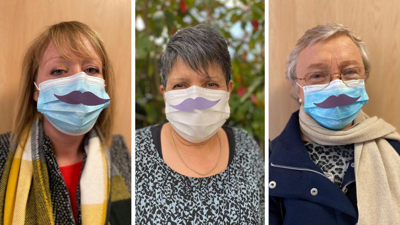 Des élues de la Ville d'Étaples n'hésitent pas à porter cette fameuse moustache afin de participer à cette initiative originale.