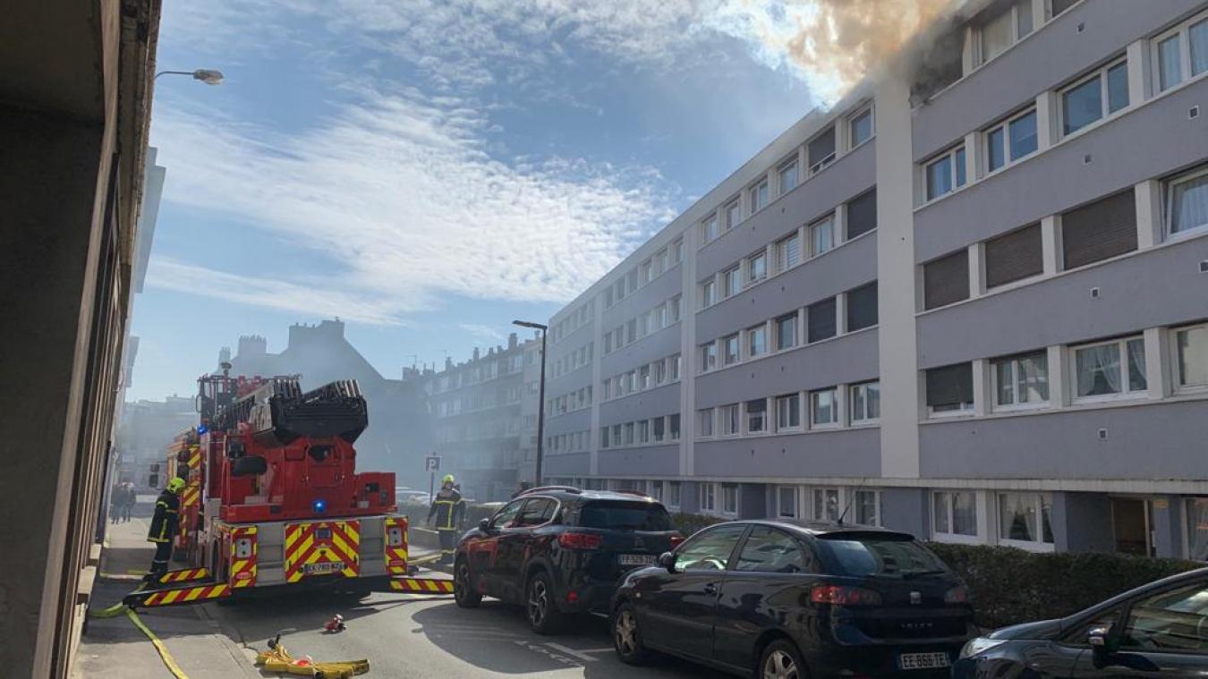 Boulogne-sur-Mer : feu d'appartement rue de l'Amiral Bruix, une personne hospitalisée