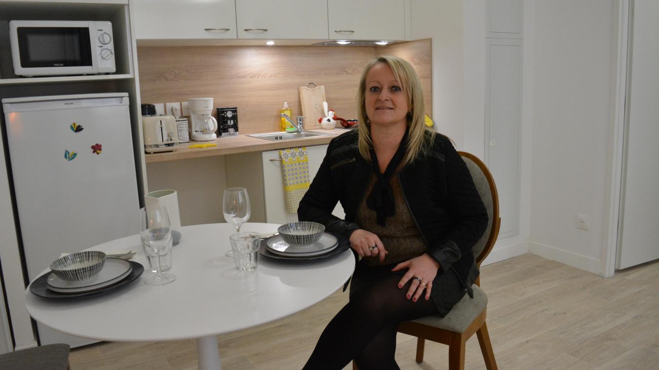 Stéphanie Crowet, directrice, peut assurer les visites des appartements témoins de la future résidence.