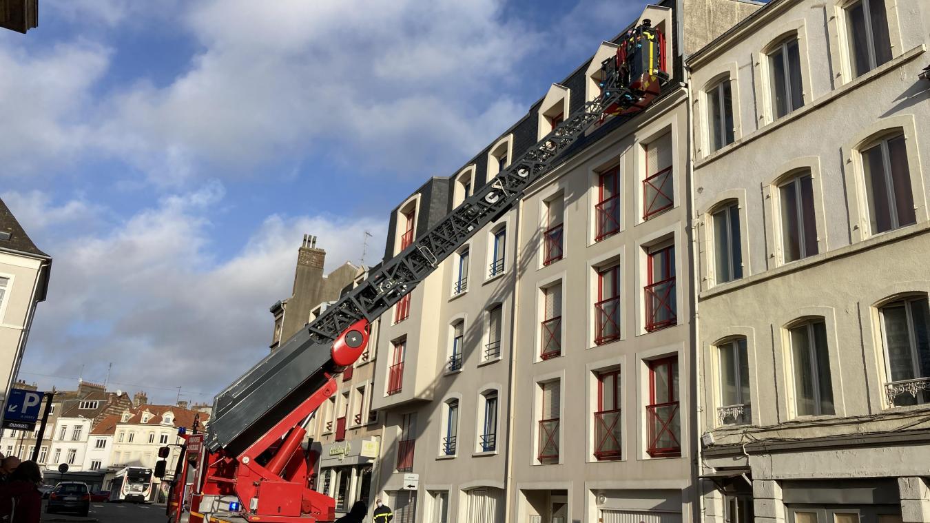 Boulogne-sur-Mer : les pompiers interviennent rue Saint-Louis