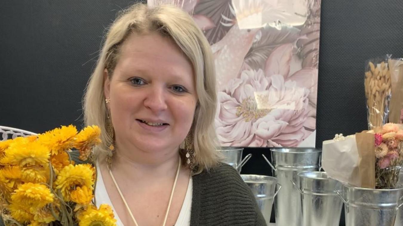 Manuela Knerr ouvrira les portes de sa fleuristerie Opal'Lys le 16 mars.