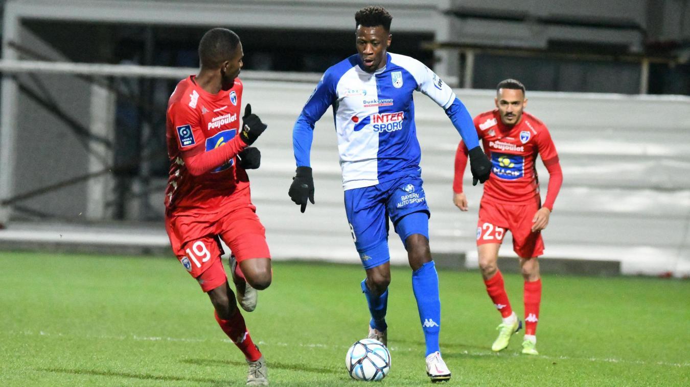 Malik Tchokounté a lancé les hostilités face aux Chamois niortais et a inscrit son 7e but de la saison.
