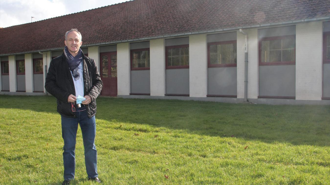 L'aile vacante du groupe scolaire Philippe de Commynes choisie pour accueillir la future ludothèque.