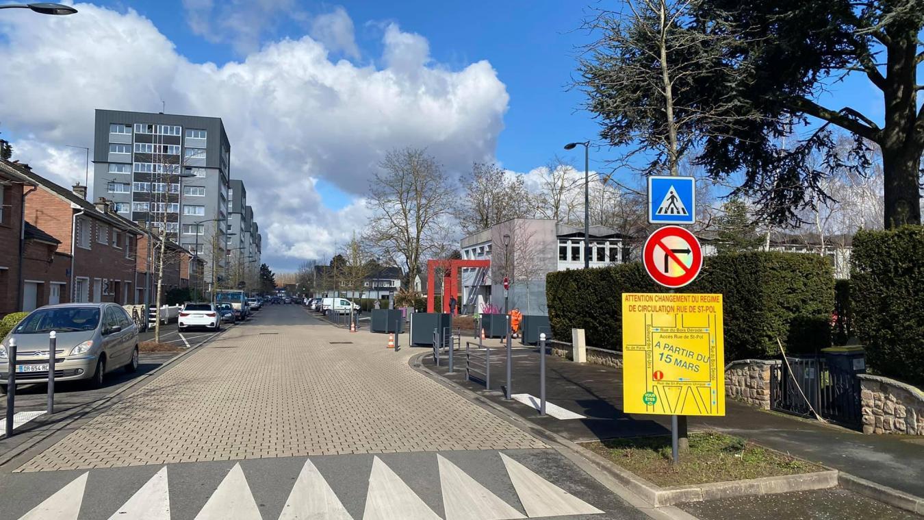 Cette modification marque la fin des travaux de rénovation complète de trois rues.