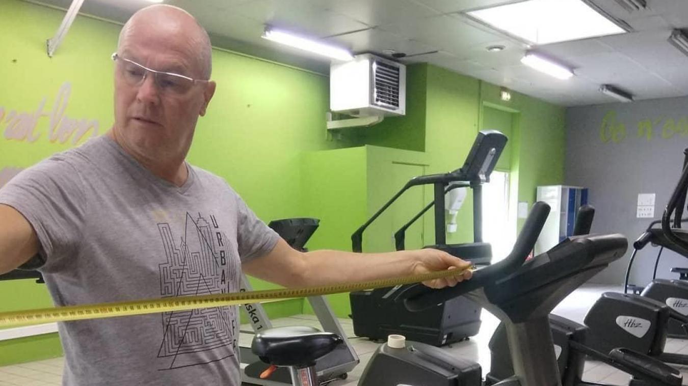 Dominique Bonnaire, dans sa salle Air'Fitness, il y a quelque mois, avant l'été, espérant réouvrir.