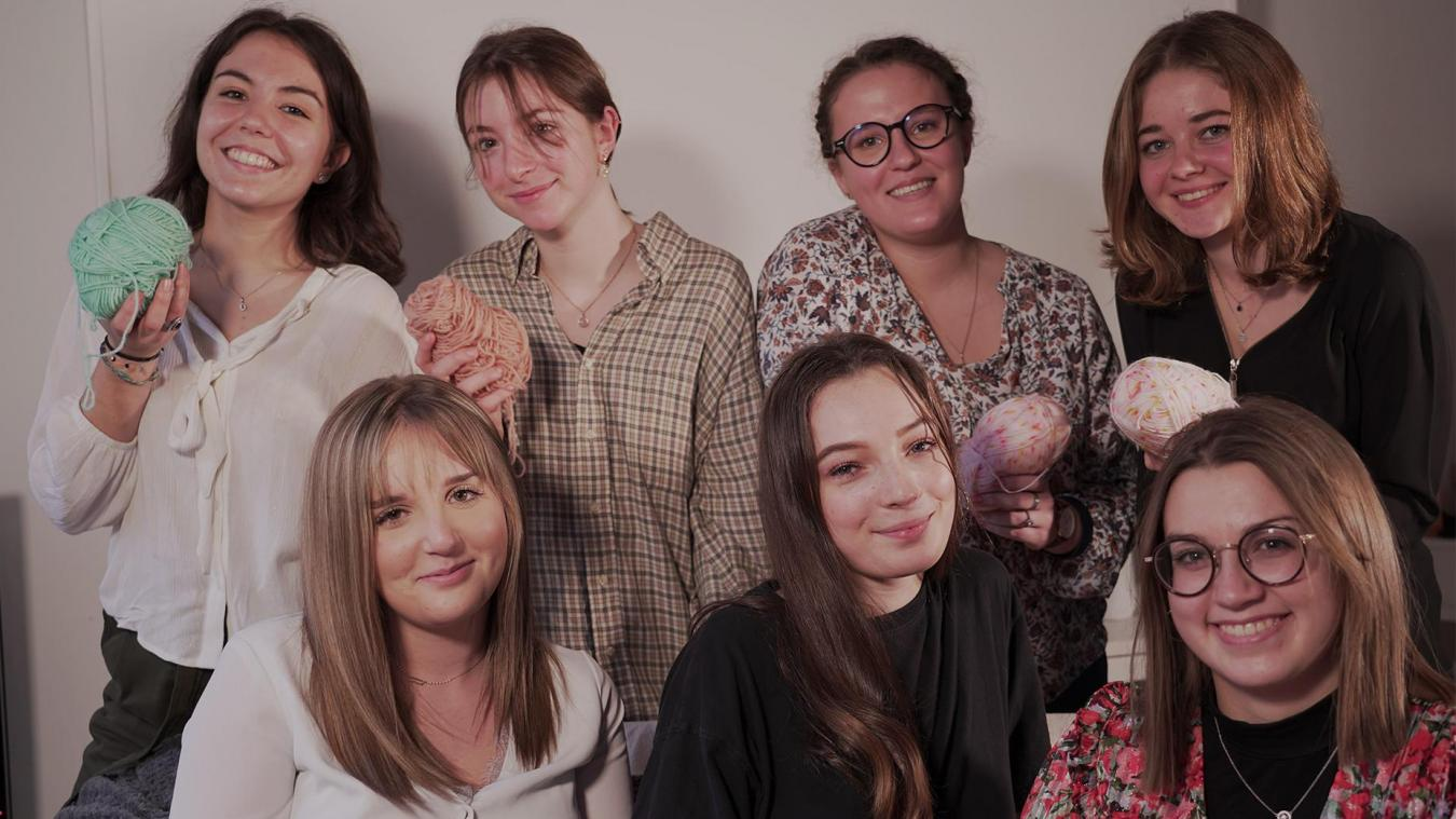 Caroline, Elise, Grace, Léa, Margo, Marie, Solène et Zéo se mobilisent pour les bébés prématurés du Calaisis.