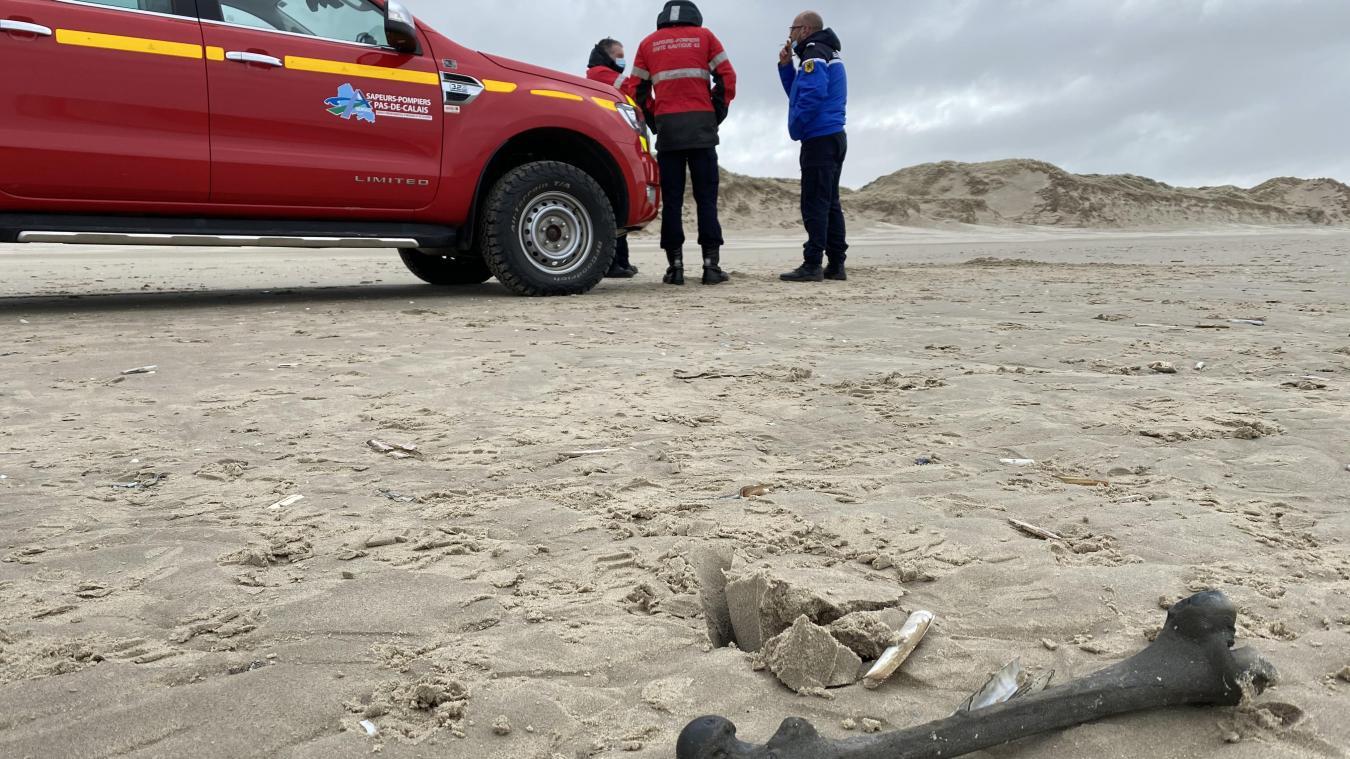L'os a été découvert par des promeneurs, ce mercredi matin 17 mars, sur la plage de Merlimont.